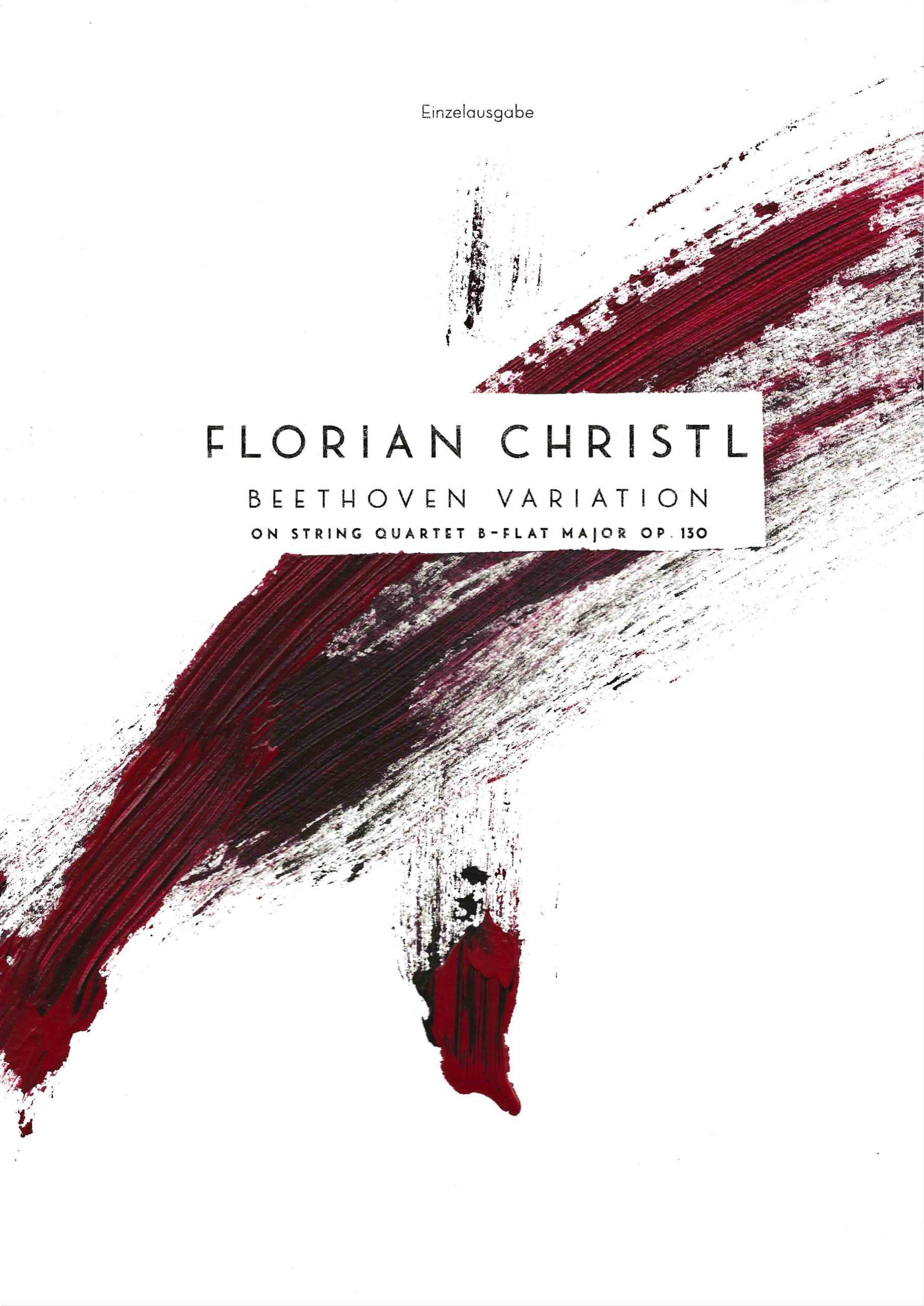 Florian Christl | Music Sheet | Beethoven Variation | 1st edition | 001
