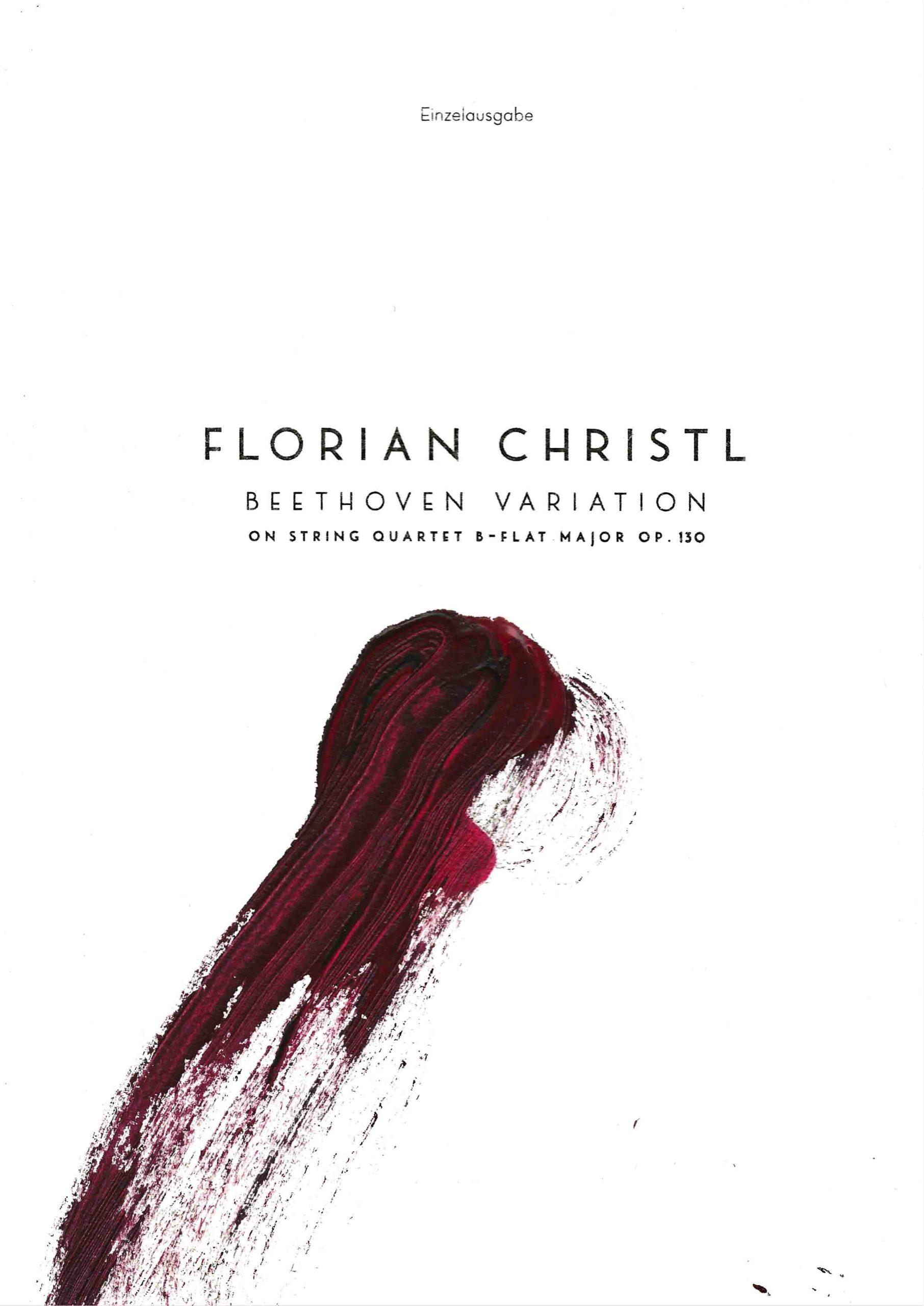 Florian Christl | Music Sheet | Beethoven Variation | 1st edition | 011